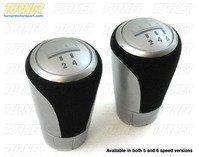 Manual BMW Shift Knob - BMW Performance Aluminum/Leather - 5 or 6 Speed Pattern