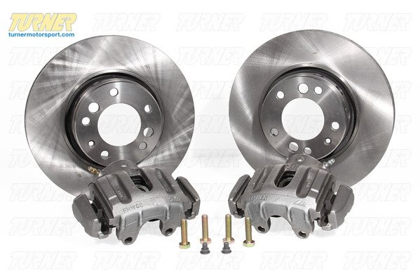 T#338645 - TMS180859 - E34 540i Vented Rear Rotor and Caliper Upgrade for E28, E24 - Turner Motorsport - BMW