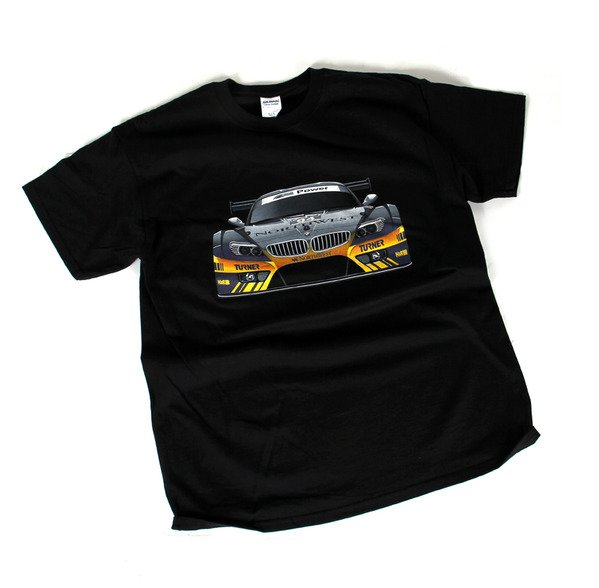 T#338906 - G200-BK - Turner Motorsport Z4 Racecar T-Shirt - Black - Turner Motorsport - BMW MINI