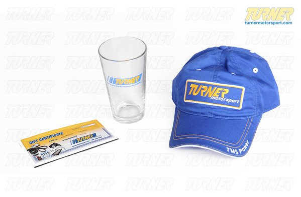 T#338910 - GC100-PGH - $100 Gift Certificate with Turner Pint Glass and Hat - Packaged by Turner -