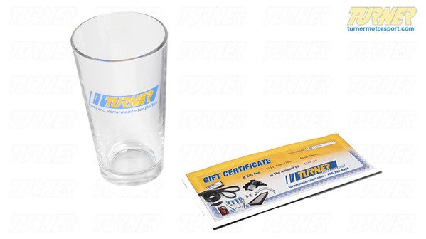 T#338912 - GC50-PG - $50 Gift Certificate with Turner Pint Glass - Packaged by Turner - BMW MINI