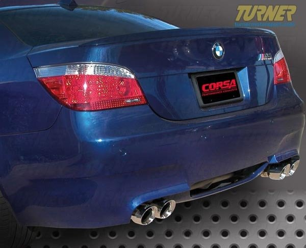T#338607 - COR14556X - E60 M5 Turner/Corsa Axle-Back Sport Exhaust System - Turner Motorsport - BMW