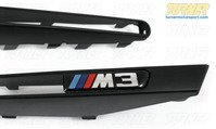 T#338582 - BM-0208-EMB - Black Fender Side Grill Trim Set - E90/E92/E93 M3 - Turner Motorsport - BMW