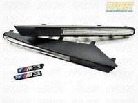 T#338586 - BM-0266-CX - Black Fender Side Grill with LED Turn Signals - E90/E92/E93 M3 - Turner Motorsport - BMW