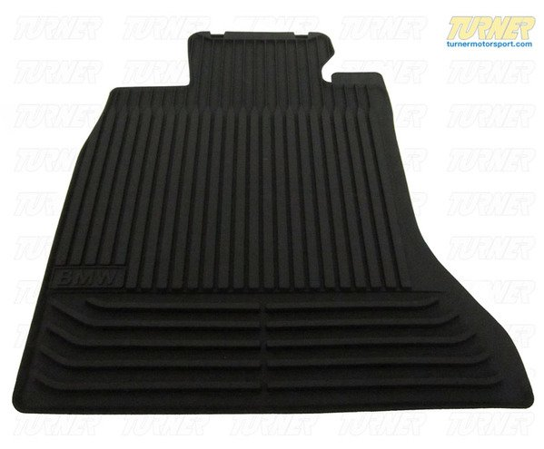 T#338210 - 82550309447 - Genuine BMW All Weather Rubber Floor Mats - Black - E63 645Ci 650i M6 - Genuine BMW - BMW