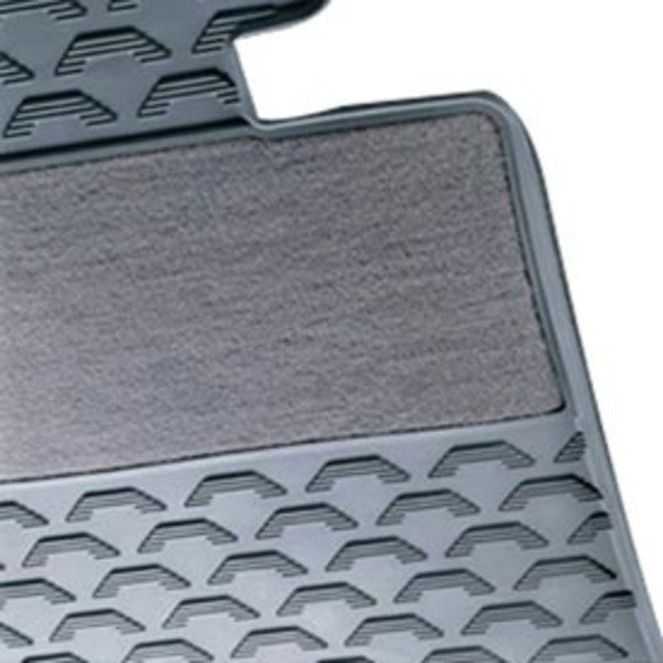 T#338183 - 51470427553 - Genuine BMW Rubber Floor Mats - Grey - E90 E92 3 series - Genuine BMW - BMW