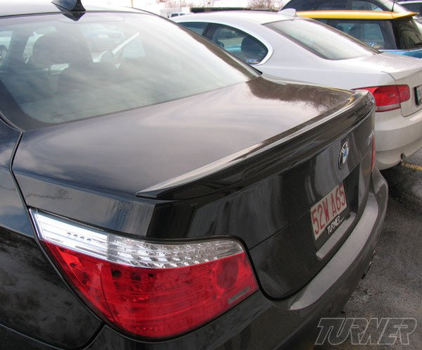 T#338188 - 51628040054 - E60 M5 Rear Trunk Lip Spoiler - Packaged by Turner - BMW
