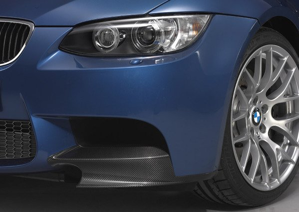 T#338421 - 51112160271-2 - E9X M3 Competition Package Carbon Fiber Front Spoiler Lips (Pair) - Turner Motorsport - BMW