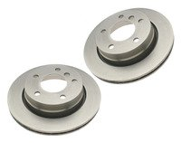 Rear Brake Rotors - E36 323i/328i Convertible, E46 323i/Ci (Pair)