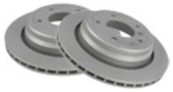 T#338145 - 34216764651 - Rear Brake Rotors - E90 323i/325i, E90/E92 328i - Packaged by Turner - BMW