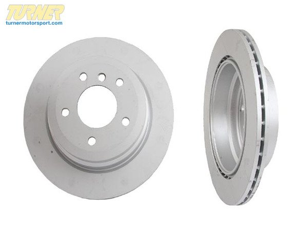 T#338146 - 34216764653 - Rear Brake Rotors - E9X 325Xi/328Xi 2006-later - Packaged by Turner - BMW