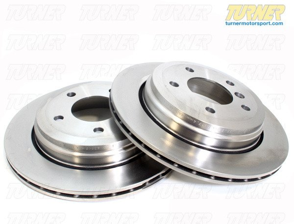 T#338148 - 34216766219 - Rear Brake Rotors - E85 Z4 3.0i, 3.0si (Pair) - Packaged by Turner - BMW