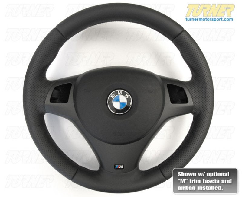 T#338090 - 32307839114 - M-Technic Steering Wheel for E9x & E8x w/ Round Sport Airbag - Genuine BMW - BMW