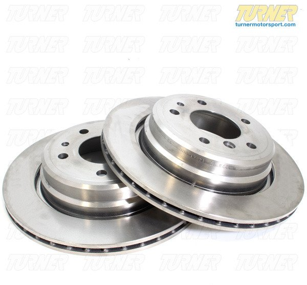 T#338123 - 34116772669 - Front Brake Rotors - E90/E92 325/328 06-07 and 08+ 128i (pair) - Packaged by Turner - BMW