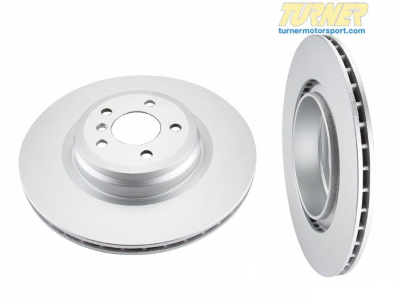 T#338125 - 34116775277 - Front Brake Rotors - F10 F12 F06 (pair) - Packaged by Turner - BMW