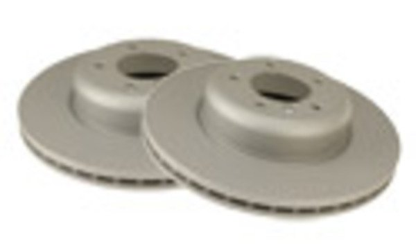 T#338130 - 34201166073 - Rear Brake Rotors - E46 330i / 330Ci / 330xi (Pair) - Packaged by Turner - BMW