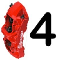 Brembo Front 332mm/1-piece Big Brake Kit for E28, E34/E34 M5