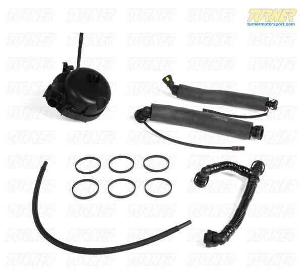 T#338253 - 11617531423KIT - Crankcase Oil Separator and Vent Hose Kit - E90 325i/330i, E60 525i/530i, E85 Z4 3.0i/3.0si - Packaged by Turner - BMW