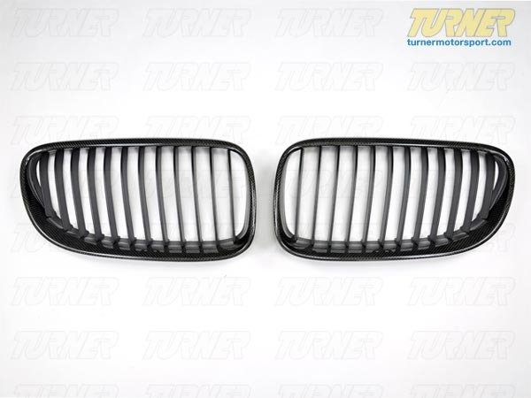 T#3247 - BM-0242 - Carbon Fiber Center Grills - E92 E93 03/2010+ (except M3) - ECS - BMW