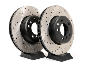 Cross-Drilled Brake Rotors - Front - E60 5 Series 6 Cyl 525/528/530/535 (Many, See List) (pair)