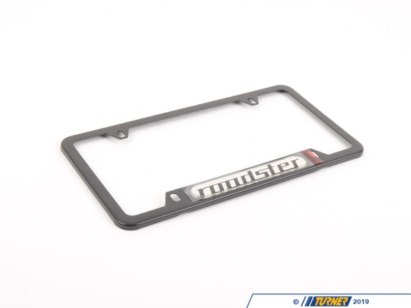 T#12438 - 82120010403 - Genuine BMW License Plate Frame Black/Rdstr - 82120010403 - E85 - Genuine BMW -