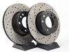T#12040 - 34116772669CDS - Cross-Drilled & Slotted Brake Rotors - Front - E82, E9X (pair) - StopTech - BMW