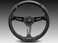 MOMO Gotham Steering Wheel - Black - 350mm
