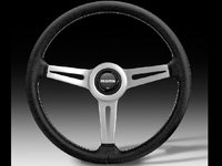 MOMO Retro Steering Wheel - Silver - 360mm