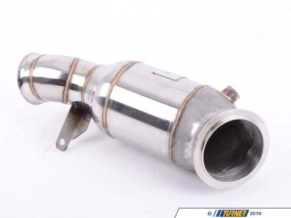T#388518 - 500001017KT - Wagner Cat-less Downpipe - N55 - F22 M235i, F30 335i, F32 435i - 7/2013+ - Eliminate the biggest restriction in the F22 and F30/1/2/3/4N55 exhaust system by deleting the primary catalytic converter. On a track car, cats are no longer needed or wanted. They rob the turbo engine of power and torque, contribute excessive heat build-up, and lead to a total blockage if the catalytic material fails. This Wagner cat-less downpipe solves all of that by having no restrictions through its oversized diameter piping. Special software, or stand-alone engine management, will be required to keep emissions fault codes and check engine lights from appearing.Features:made out of high quality stainless steel 1.4301 (SS304)100% perfect fit, replace OEMless thermal load on the turbochargermore power by reducing back pressuresignificantly more torqueconnection diameter 105mmThis part alters or deletes the emissions equipment on your car, and may not meet emissions standards in all states. Because of this, we require a waiver of emissions compliance to be signed and sent in to TMS.You can download the waiver here.This item fits the following BMWs:2014+F22 BMWM235i M235i xDrive2014+F23 BMWM235i Convertible2016+F87 BMWM27/2013+F30 BMW335i 335i xDrive - Sedan7/2013+F32 BMW435i 435i xDrive - Coupe7/2013+F33 BMW435i Convertible 435i xDrive Convertible- Convertible2014+F34 BMW335i xDrive GT - Gran Tourismo2014+F36 BMW435i Gran Coupe 435i xDrive Gran CoupeLeft Hand Drive ONLY - Wagner Tuning - BMW