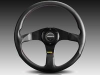 T#388375 - TUN32BK0B - MOMO Tuner Steering Wheel - Black Spoke 320mm - MOMO - BMW MINI