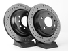 T#3931 - 34211164840CD - Cross-Drilled Brake Rotors - Rear - E39 525i/528i/540i (pair) - StopTech - BMW