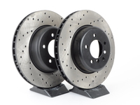 Cross-Drilled Brake Rotors - Front - E60 535i, 545i, 550i - E63 645ci, 650i (pair)