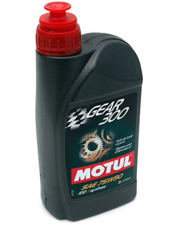 T#2451 - MOGR300-75W90 - MOTUL 75W-90 GEAR 300 Synthetic Gear and Differential Fluid - This MOTUL SAE 75W90 gearbox and differential fluid is a 100% synthetic ester based oil, which can be used in tranmissions and rear differentials under all conditions of use -- street, track and racing. This oil has proved its qualities and resistance to extreme conditions. We would not hesitate to use this MOTUL 75W-90 GEAR 300 gear oil on our own personal vehicles, and neither should you. Be sure to check your owners manual before selecting oil products for street applications. This is a 1 liter bottle, so be sure to order enough for your specific application. API GL-5.MIL-L-2105D. - Motul - BMW MINI
