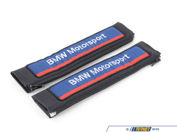 T#355 - MSBELT50MM - BMW Motorsport Seat Belt Shoulder Pad Set - Genuine BMW Motorsport -