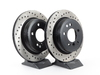 T#2768 - 34216764653CD - Cross-Drilled Brake Rotors - Rear - E9X 325Xi/328Xi, E91 328i, E93 328i (pair) - StopTech - BMW