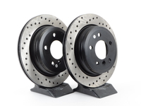 Cross-Drilled Brake Rotors - Rear - E9X 325Xi/328Xi, E91 328i, E93 328i (pair)