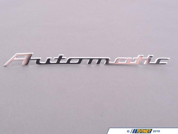 "T#80708 - 51141802320 - Genuine BMW Emblem ""Automatic"" - 51141802320 - Genuine BMW -"