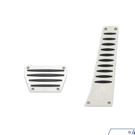 T#389437 - D700-0001 - Dinan Automatic Transmission Alumnium Pedal Cover Set - Stylish aluminum and rubber pedal pads add a great high performance look to the interior of your BMW, while providing plenty of grip for even slippery leather soles.The pedal pads feature the Dinan logo and come complete with hardware for a simple installation. Worth 1 point towards your Dinan badge.For cars with automatic transmission. - Dinan - BMW