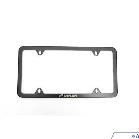 T#556685 - D010-0018 - Dinan Slimline License Plate Frame - Black - This license plate frame is a great way to show off your Dinan pride, and lets the other cars on the road know what you've got under the hood.For over 35 years, Dinan has been America's premier tuning company, pioneering advancements in BMW modification while retaining a focus on balanced performance that preserves the original character and driving feel that a BMW offers. When you install a Dinan part on your car, know that it's not only carefully developed and tested, but that Dinan stands behind it with a four year, 50,000-mile warranty. Dinan believes so fully in their total package approach that once your car has been fitted with enough of their parts, they celebrate your conversion from stock to Dinan with an exclusive trunk badge, displayed proudly by BMW enthusiasts everywhere. - Dinan - BMW MINI