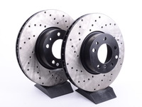 Cross-Drilled Brake Rotors - Front - E39 540i (up to 3/00), E38 740i/il, E31 (pair)