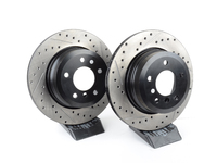 Cross-Drilled & Slotted Brake Rotors - Rear - E60 xi - 2004-2010 525xi, 528xi, 530xi, 535xi (pair)