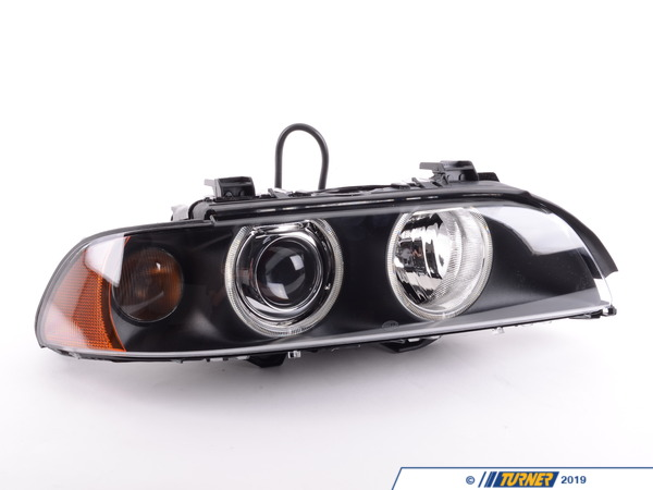 Hella Hella Headlight Assembly (Xenon) with White Turn Signal Lens and Yellow Reflector - E39 63126912440