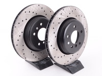 Cross-Drilled Brake Rotors - Rear - E60 535/545I/550i & E63/E64 645i/650i (Pair)