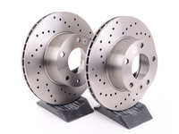 Cross-Drilled Brake Rotors - Front - E12, E23, E24 (pair)