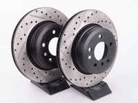 Cross-Drilled & Slotted Brake Rotors - Rear - E82 135i (Pair)