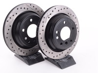Cross-Drilled & Slotted Brake Rotors - Rear - E39 525i/528i/540i (pair)