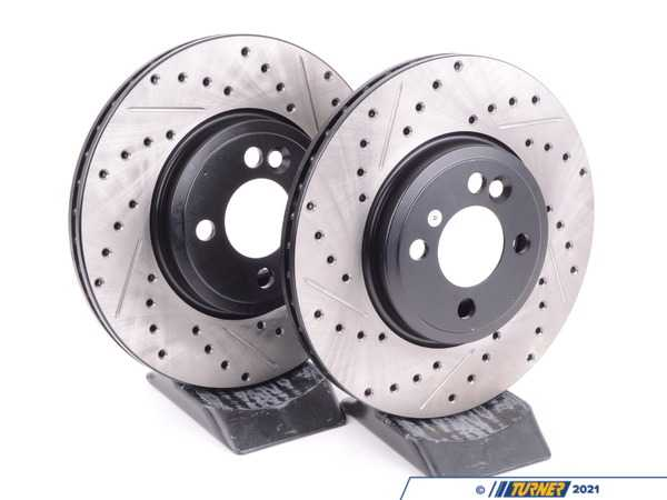 T#210965 - 34116774986CDS - Cross-Drilled & Slotted Brake Rotors - MINI Cooper S - R56 2007+ (Pair) - StopTech - MINI