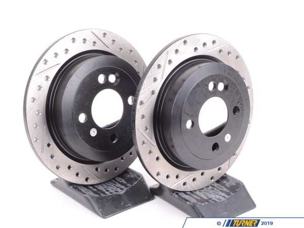 Turner Motorsport Cross-Drilled Brake Rotors - Rear - MINI Cooper and Cooper S (Pair) 34211503070CD