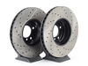 T#12038 - 34116767059CDS - Cross-Drilled & Slotted Brake Rotors - Front - E39 530i, 540i 03/00+ (pair) - StopTech - BMW