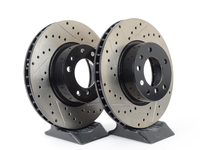 Cross-Drilled & Slotted Brake Rotors - Front - E32, E34 540i (pair)